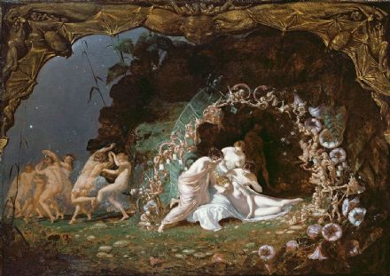 Dadd, Richard: Titania Sleeping (Scene from A Midsummer Night's Dream by William Shakespeare). Fine Art Print/Poster. Sizes: A4/A3/A2/A1 (003651)